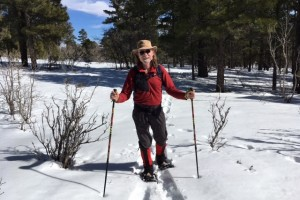 Snowshoeing behind Elden Trails B&B